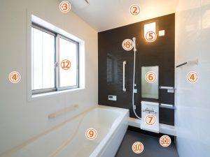 バスルーム作業箇所