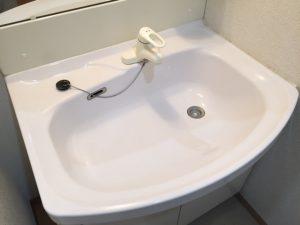 洗面台クリーニング後