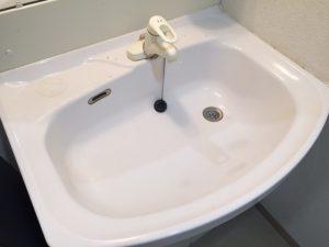 洗面台クリーニング前